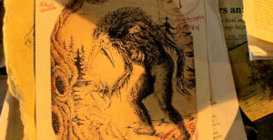drawing of demon